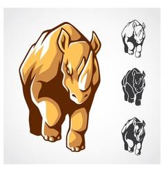 Rhinoceros Symbol vector image