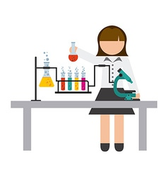 Scientific woman vector