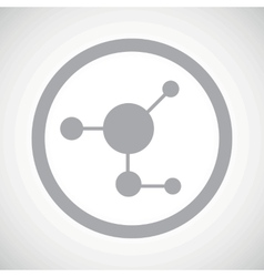 Grey molecule sign icon vector