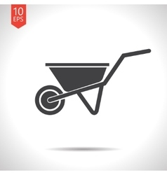 Color flat barrow icon vector