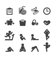 Health and yoga icon vector