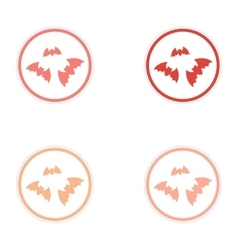Assembly sticker full moon and bats on a white vector