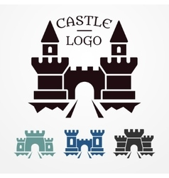 Castle logo set vector image