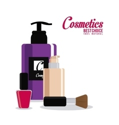 Cosmetic design make up icon skin care concept vector