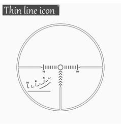 Finder target iicon style thin line vector