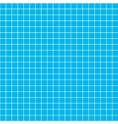 Five millimeters white grid on blue blueprint vector