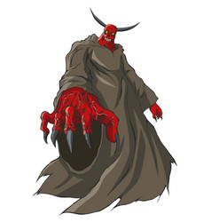 A demon or devil figure vector