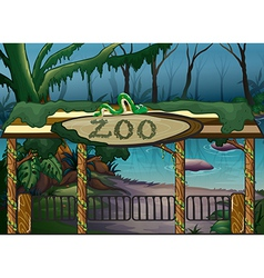 A zoo and a river vector image vector image