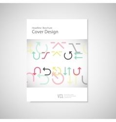 arrows set on a white brochure vector image vector image