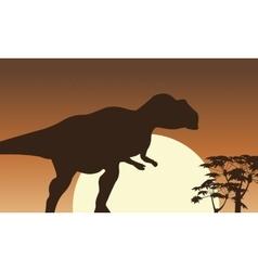 At sunrise mapusaurus scenery vector image