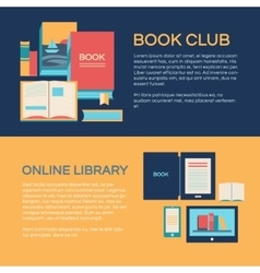 Banner template with books vector