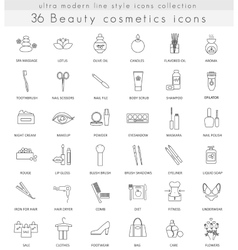 Beauty Cosmetics ultra modern outline line vector image