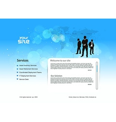 Business template design vector