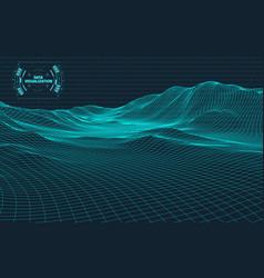 data visualization background futuristic design vector image vector image