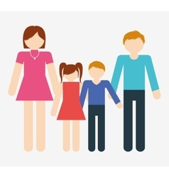 family icon image vector image