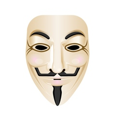 Hacker mask icon isolated on white stylised vector