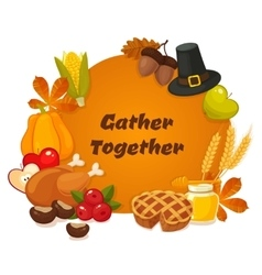 Happy Thanksgiving Day banner with vector image vector image