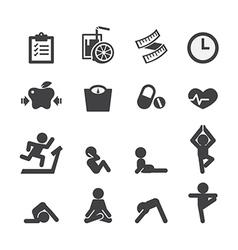 Health and yoga icon vector