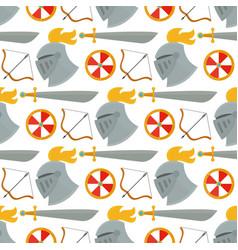 Knight helmet medieval weapons heraldic knighthood vector