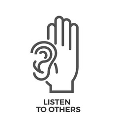 listen to others vector image