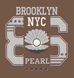 new york pearl vector image