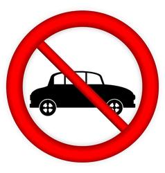 No parking sign icon vector image