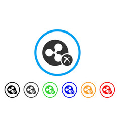 Ripple reject rounded icon vector