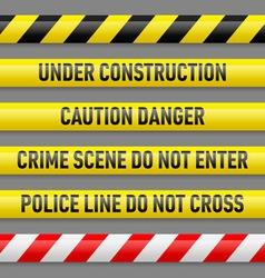 Set of danger tapes vector