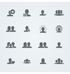 Set of simple social icons Flat people vector image