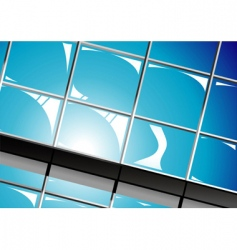 shiny window reflections vector image vector image