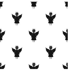 Soul icon in black style isolated on white vector