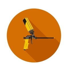 Flat icon gun for foam vector