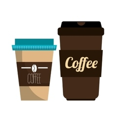Coffee plastic portable container graphic vector