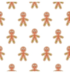 Gingerbread man cookies seamless pattern vector