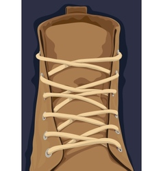 Close up shoe vector