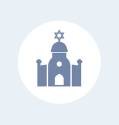 Synagogue icon isolated on white vector