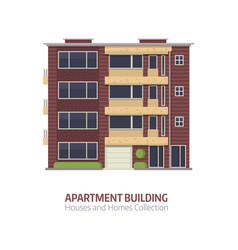 Modern multistory house vector
