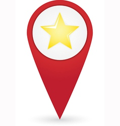 Gps marker with favourites icon vector