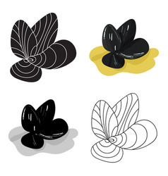 mussels icon in cartoon style isolated on white vector image