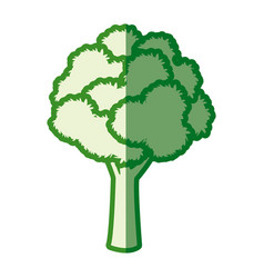 Tree leafy wood plant green silhouette vector