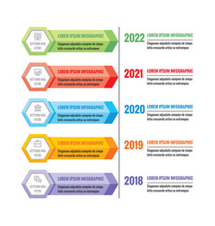Infographic business concept colorful vector