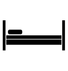 bed the black color icon vector image