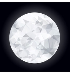 Abstract polygonal moon vector