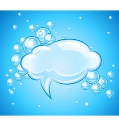 Bubbles cloud in water for vector