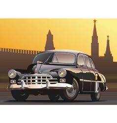 retro limousine vector image
