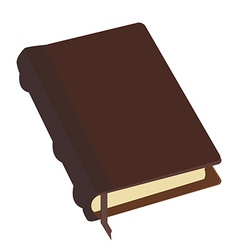 Brown book vector