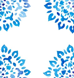 Watercolor snowflakes seamless pattern vector