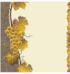 vine brown frame vector image