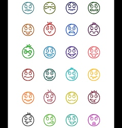24 smiles icons set 5 vector