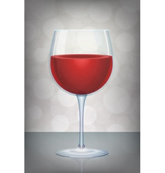 Isolated red wine glass with mystic abstract vector